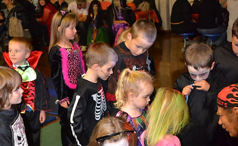 2. Little Horrors at the Halloween party..JPG