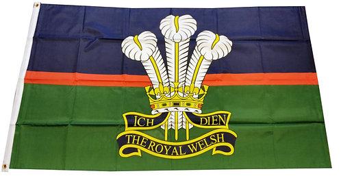 Royal Welsh Cap Badge Flag