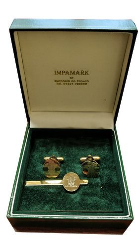Royal Regiment Of Wales Tie Clip & Cuff Links Set
