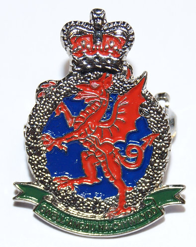 Royal Welsh Regimental Association Lapel Pin Badge (Crest)