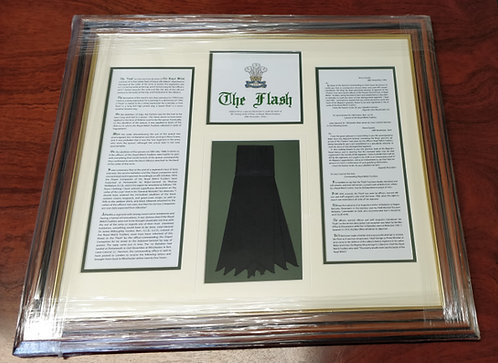 Royal Welsh Framed 'Flash' Presentation (Cardiff Collection Only)