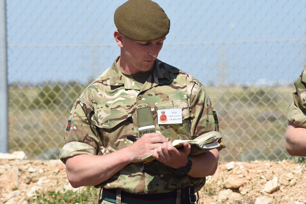 Res PO Marchbank, 3 R WELSH, Top Student 1 Platoon during the PRACTAC.