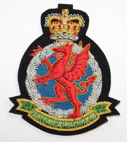 Royal Welsh Regimental Association Blazer Badge (Crest)