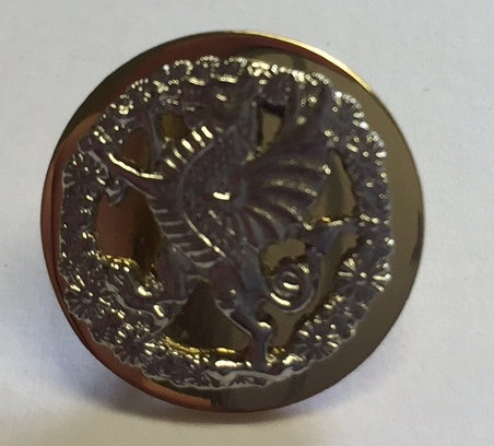 Royal Welsh Blazer Button (Crest Mounted) - Small