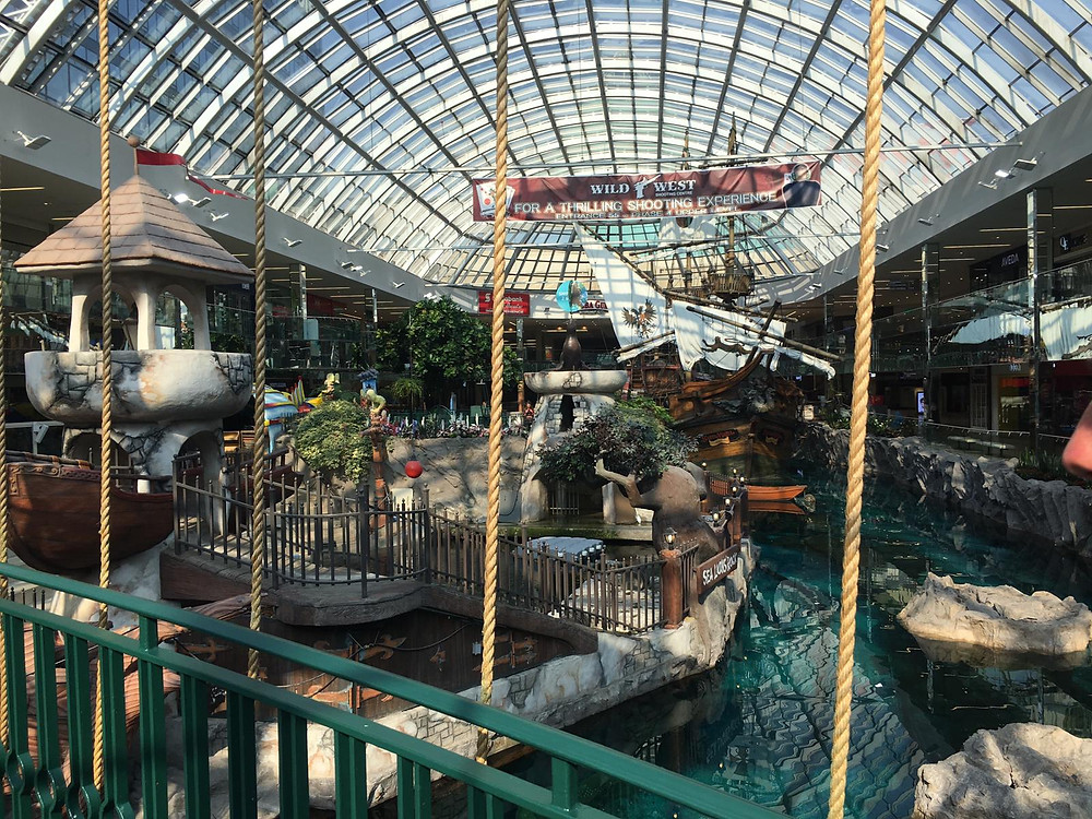 4 Platoon taking the opportunity to visit the West Edmonton shopping mall, with an amazing water park inside.
