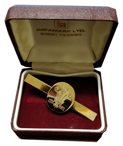 Royal Regiment of Wales Tie Clip (Oval & Gold)