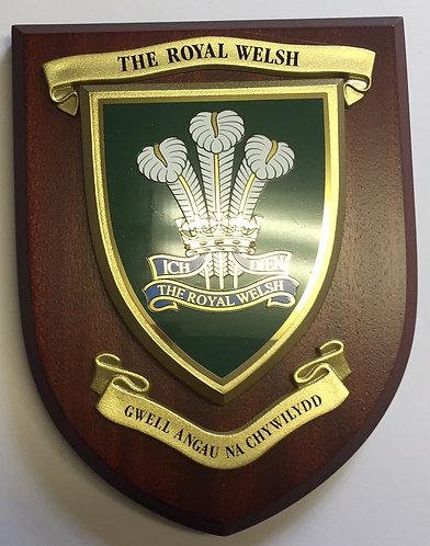 Royal Welsh Wall Plaque (Cap Badge)