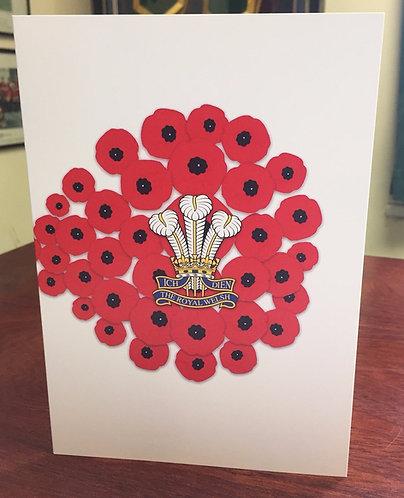 Royal Welsh 'Poppy' Remembrance Card