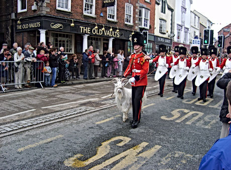 20130415-10.Chester parade pioneers and goat.JPG