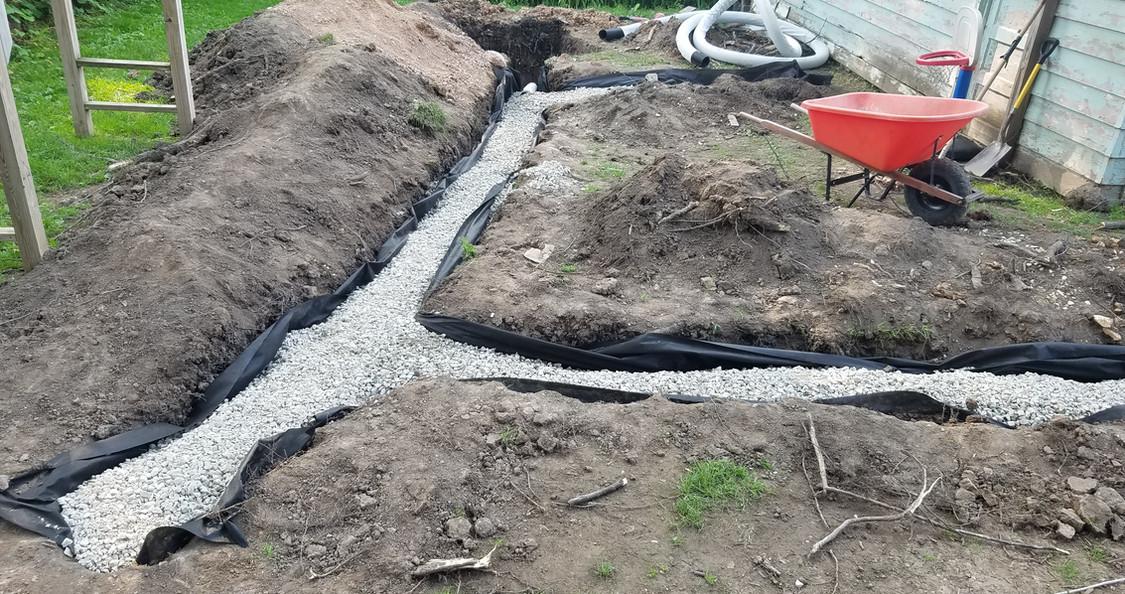 Backyard Drain Tiling
