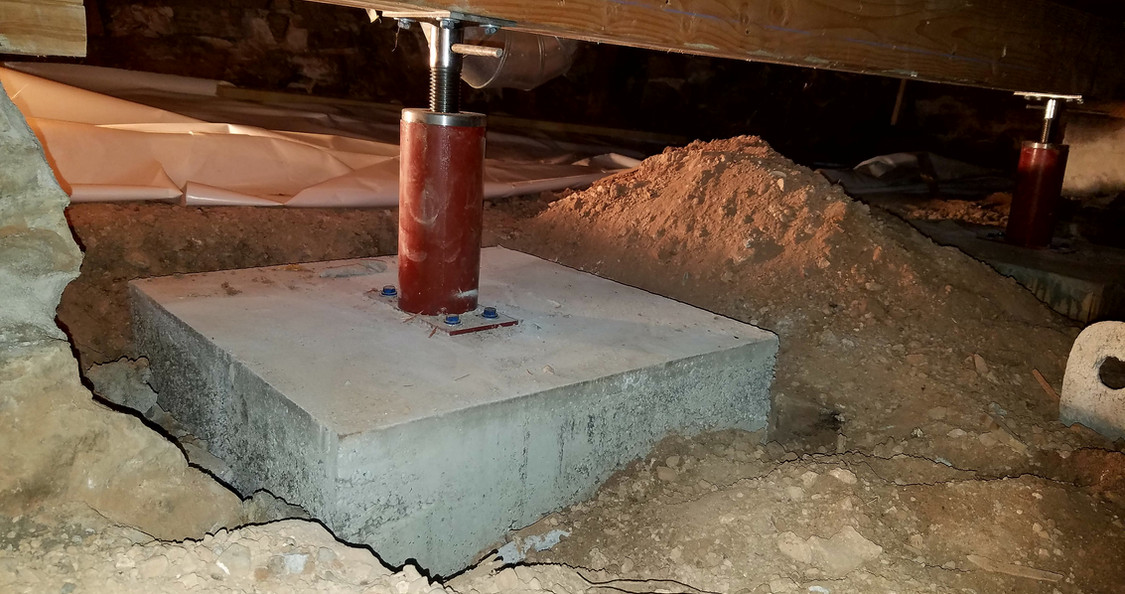 Crawlspace Support Footings