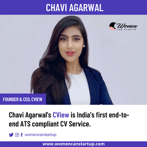 Chavi Agarwal's CView Is India's first End-to-End ATS Compliant CV Service