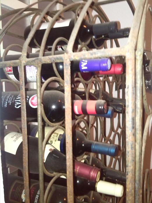 Rustic Metal Wine Rack for Sale €125
