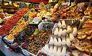 The freshest vegetables can be found at Malaga markets