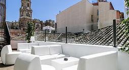 Terrace at Chinitas Hostel. Pasaje Chinitas