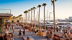 Shops, markets and restaurants on the new port at Malaga