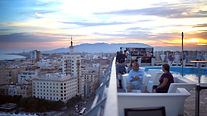 Roof top bar in Malaga