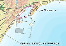 Map of Malaga port