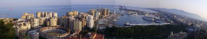 Malaga City panoramic skyline