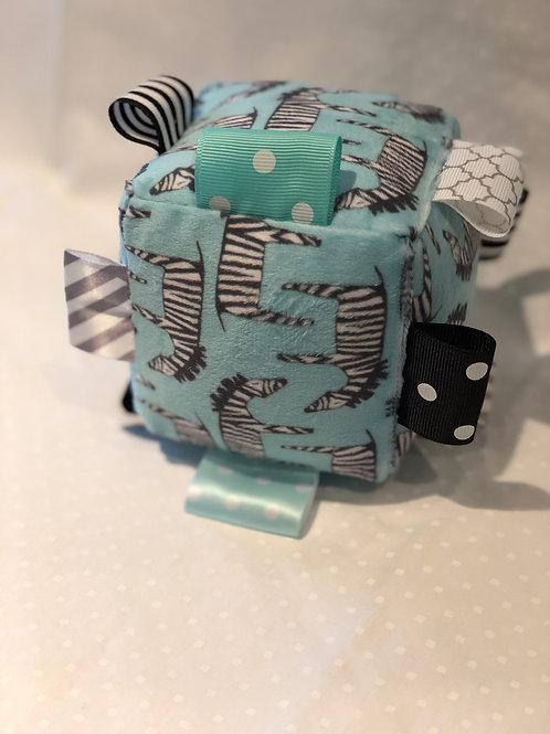 Rattle Cube - Zig Zag Zebras
