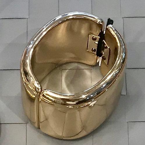 Angela Caputi Gold Hinged Cuff Bracelet