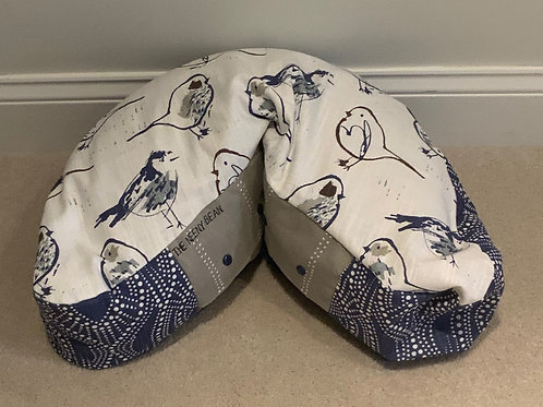 Bean - Bird Toile/Alyssa Regal Blue