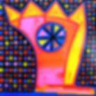 20x20 Acrylique sur toile 2015 ref:185+