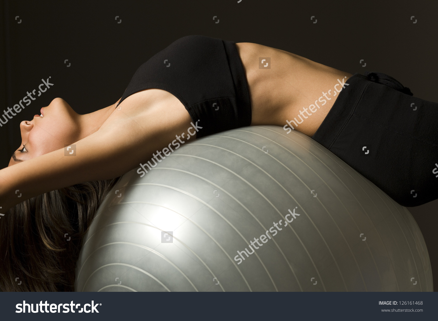 Girl on ball