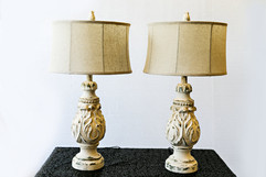 White Distressed Lamps