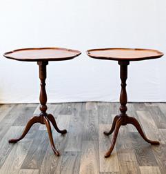Scallop Edge Table Pair