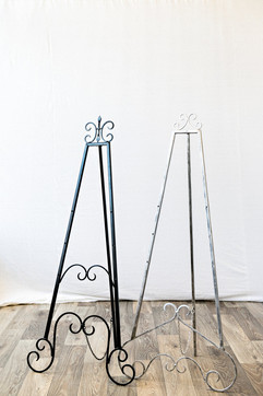 Easels Black and Silver