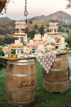 Wine barrell table