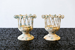 Distressed Metal Candleholders