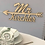 Thumbnail: Mr & Mrs-Schild personalisiert