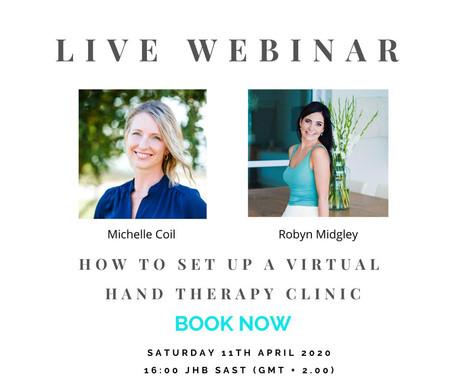 Live Webinar - How to Set Up A Virtual Clinic