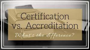 Accreditation versus Certification - what apply's to the CMMS online course?