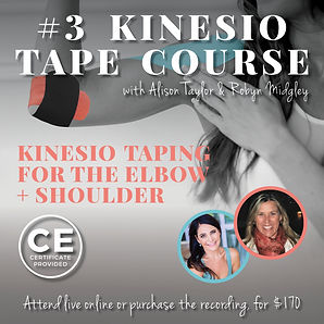 Robyn Midgely EVENTS - Kinesio Course -