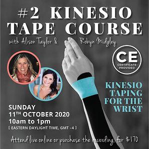 KINESIO POSTS - no 2 The Wrist - square
