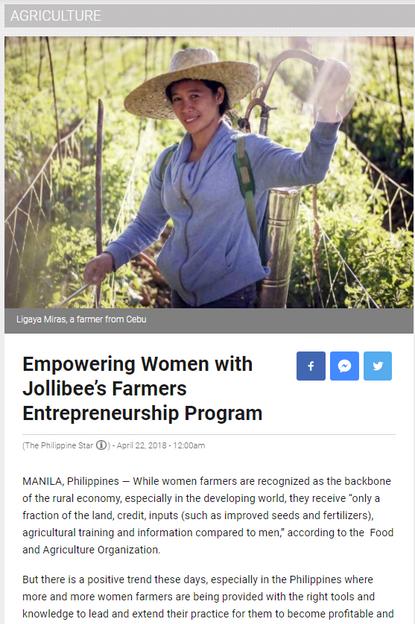Jollibee's Farmers Entrepreneurship Program
