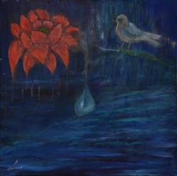 le rossignol contemple la fleur