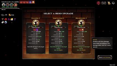 Hadean Tactics Early Access Hero Upgrade