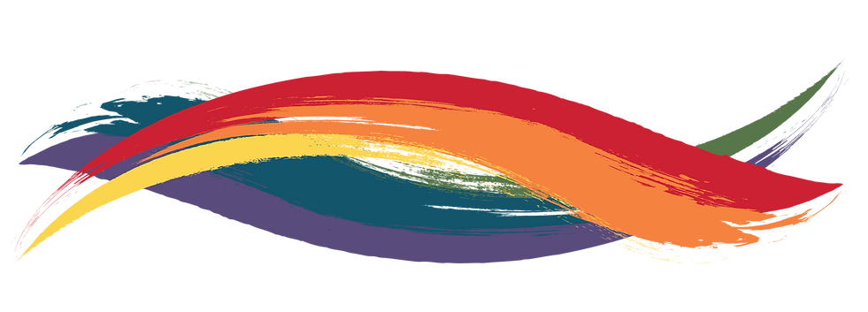 Decorative rainbow design