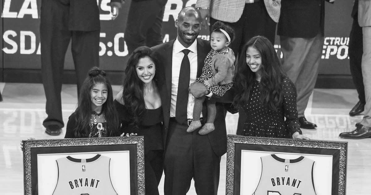 Kobe and the lovely ladies in his life. #Mamba4Ever