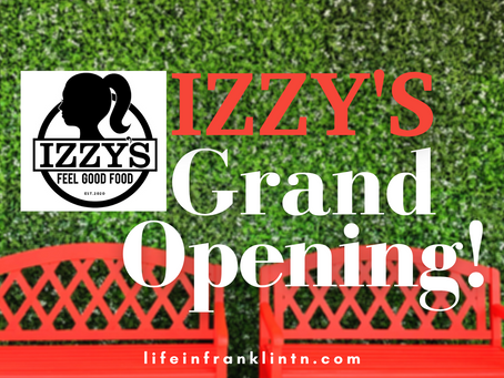 IZZY'S Grand Opening in Franklin