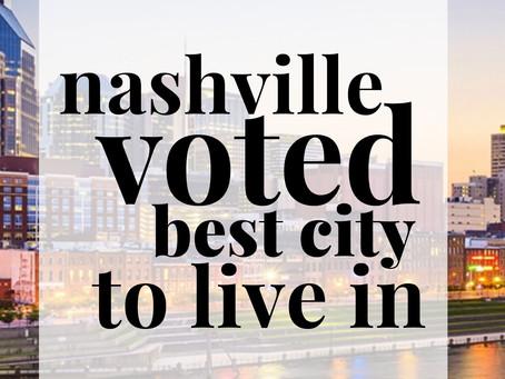 Nashville Voted: South's Best City 2020