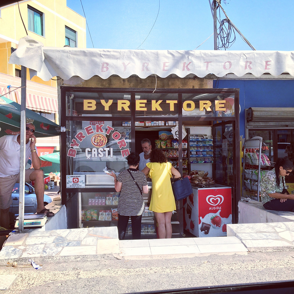 Store front where they sell Byrek