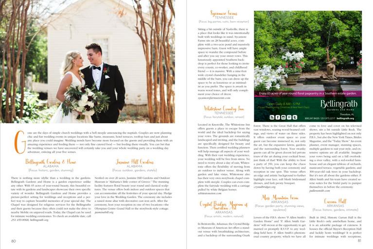 Wedding Destinations List