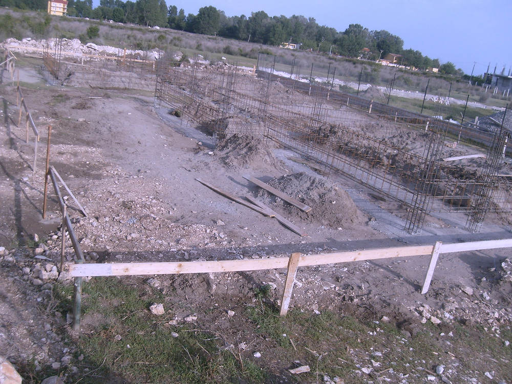 Here is a picture of the ground before foundation is poured for our albania home