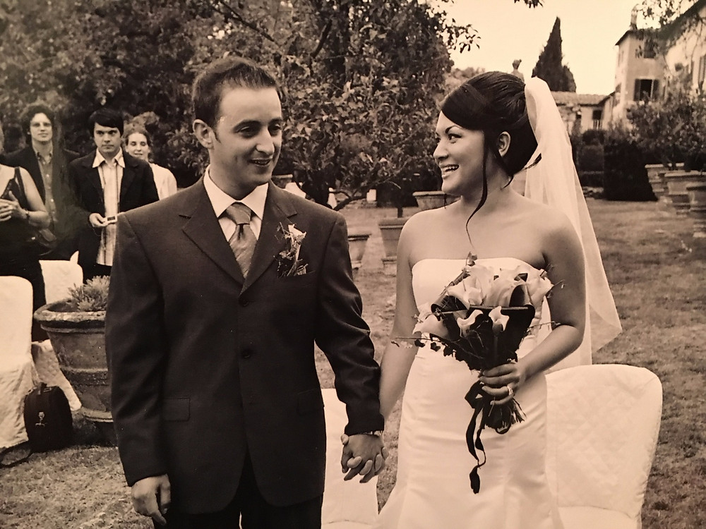 Our wedding day in tuscany