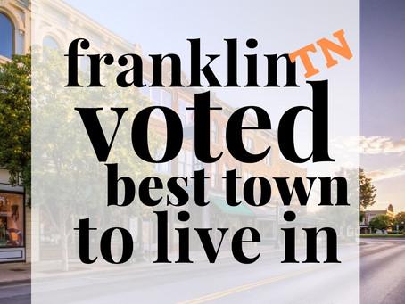 Franklin, TN Voted Best Town